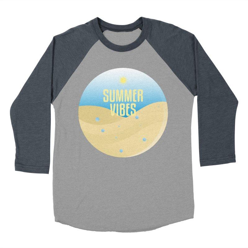 Summer Vibes Women's Baseball Triblend Longsleeve T-Shirt by Mountain View Co