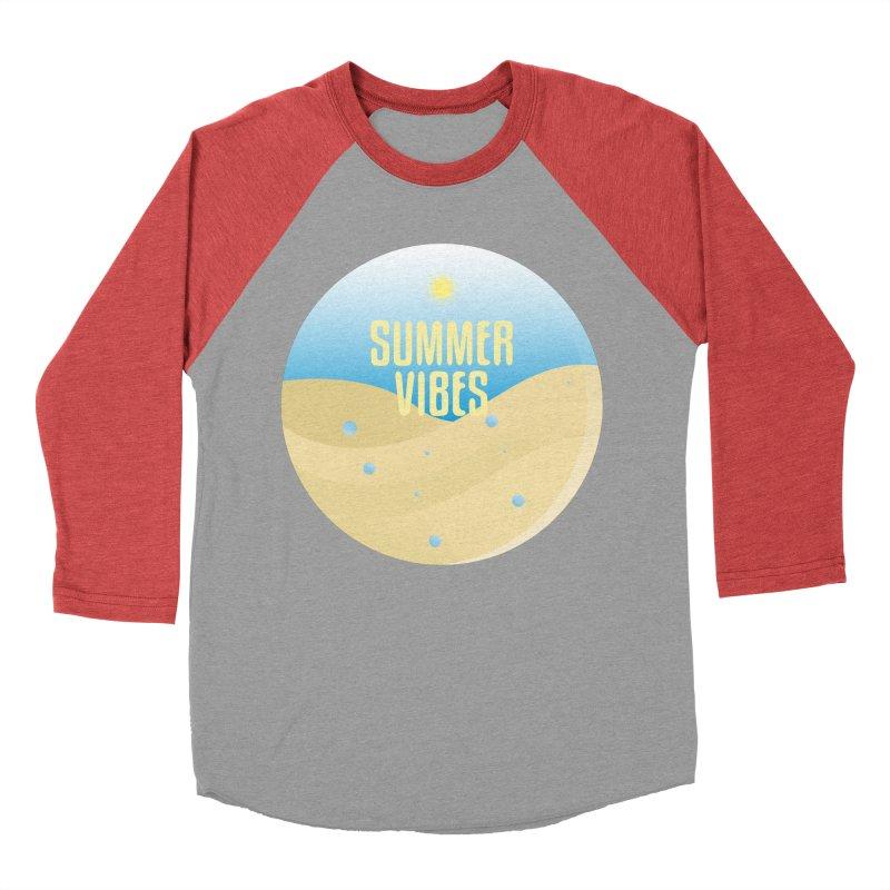 Summer Vibes Men's Baseball Triblend Longsleeve T-Shirt by Mountain View Co