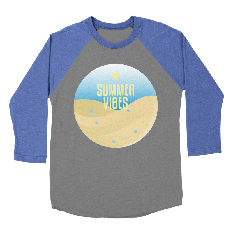 Summer Vibes Men's Baseball Triblend Longsleeve T-Shirt by Mountain View Co