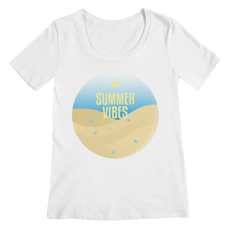Summer Vibes Women's Regular Scoop Neck by Mountain View Co