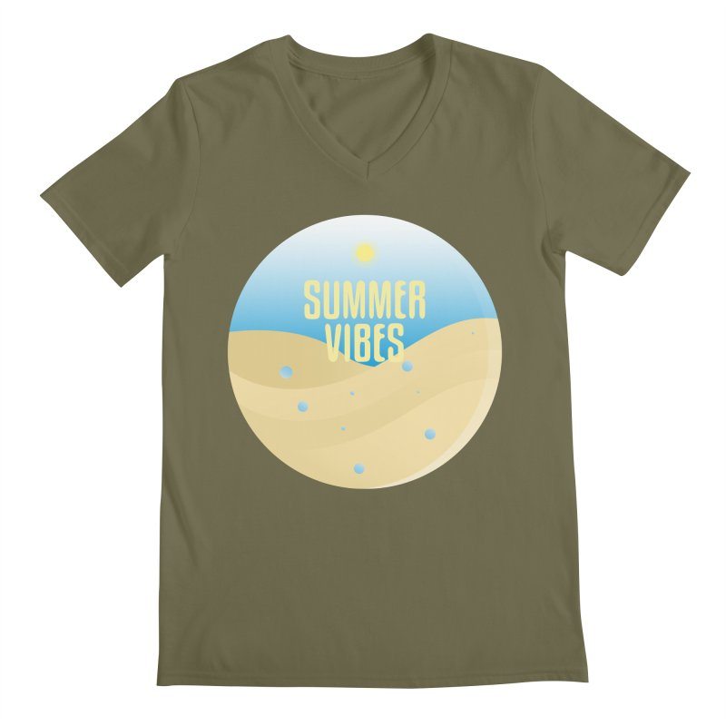 Summer Vibes Men's Regular V-Neck by Mountain View Co