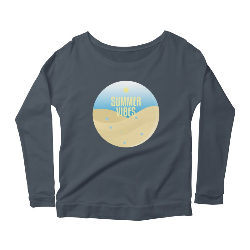 Summer Vibes Women's Scoop Neck Longsleeve T-Shirt by Mountain View Co