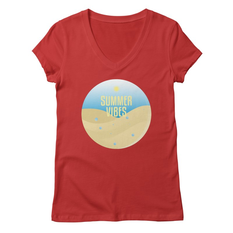 Summer Vibes Women's Regular V-Neck by Mountain View Co