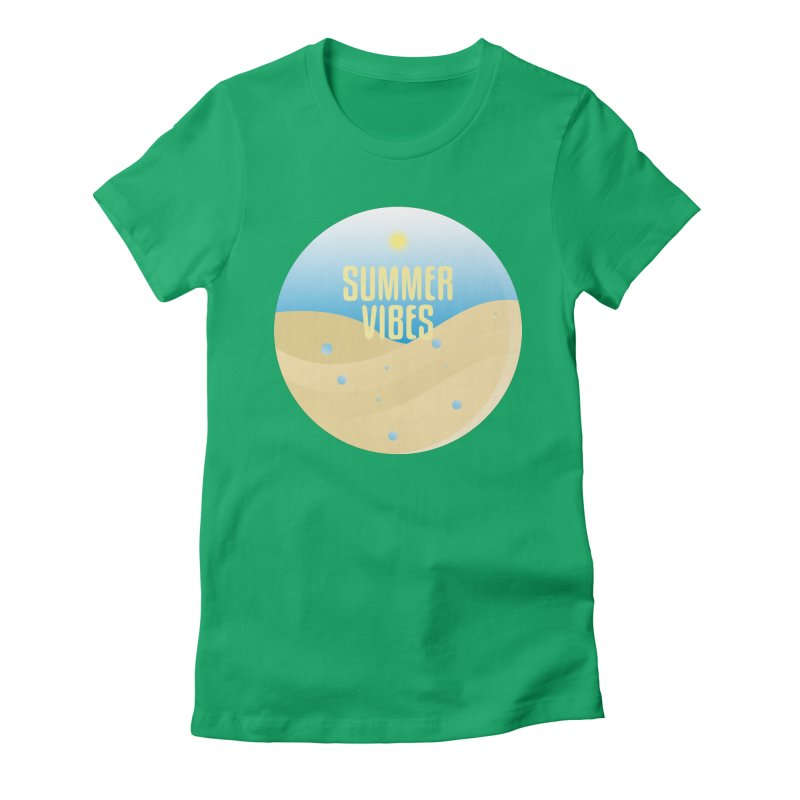 Summer Vibes Women's Fitted T-Shirt by Mountain View Co