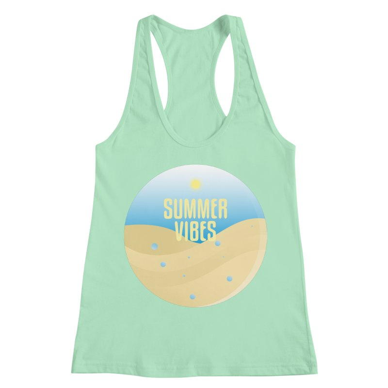 Summer Vibes Women's Racerback Tank by Mountain View Co