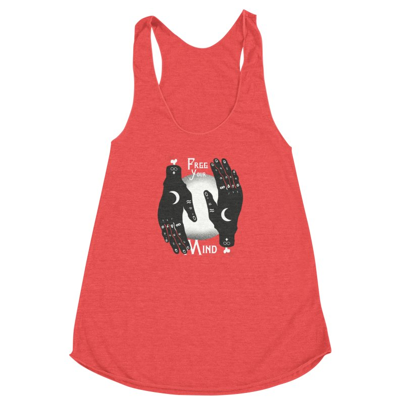Free Your Mind Women's Racerback Triblend Tank by Mountain View Co