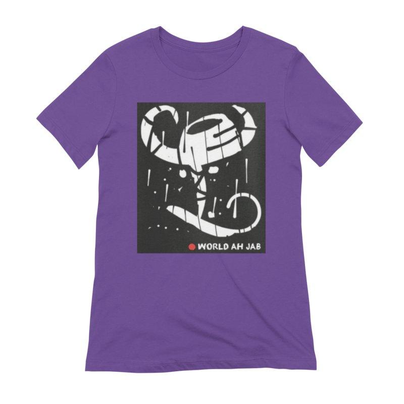 'WORLD AH JAB' Women's Extra Soft T-Shirt by Mozayic's Artist Shop