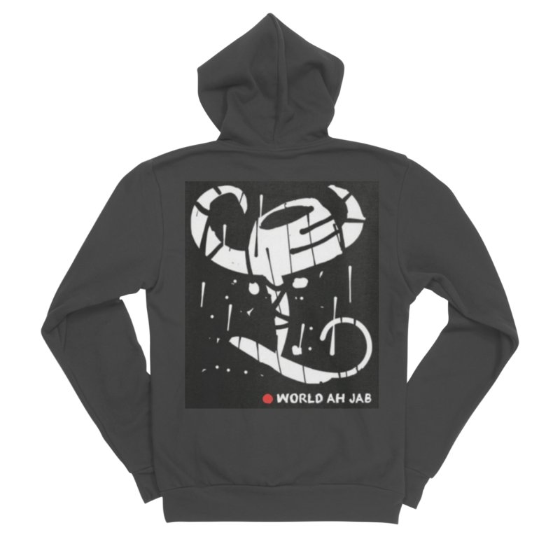 'WORLD AH JAB' Men's Sponge Fleece Zip-Up Hoody by Mozayic's Artist Shop