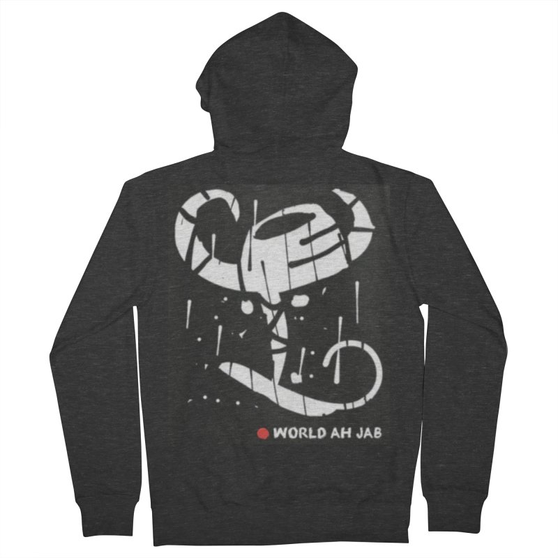 'WORLD AH JAB' Women's French Terry Zip-Up Hoody by Mozayic's Artist Shop