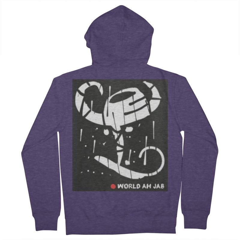 'WORLD AH JAB' Men's French Terry Zip-Up Hoody by Mozayic's Artist Shop