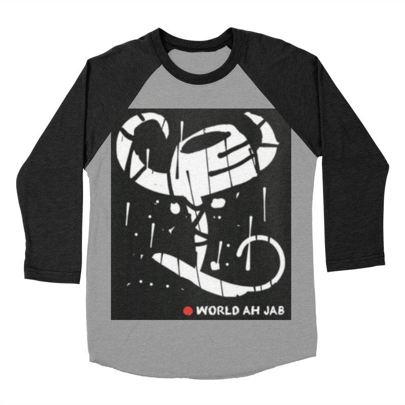 'WORLD AH JAB' Women's Baseball Triblend Longsleeve T-Shirt by Mozayic's Artist Shop