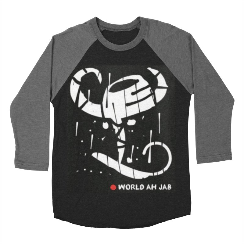 'WORLD AH JAB' Men's Baseball Triblend Longsleeve T-Shirt by Mozayic's Artist Shop