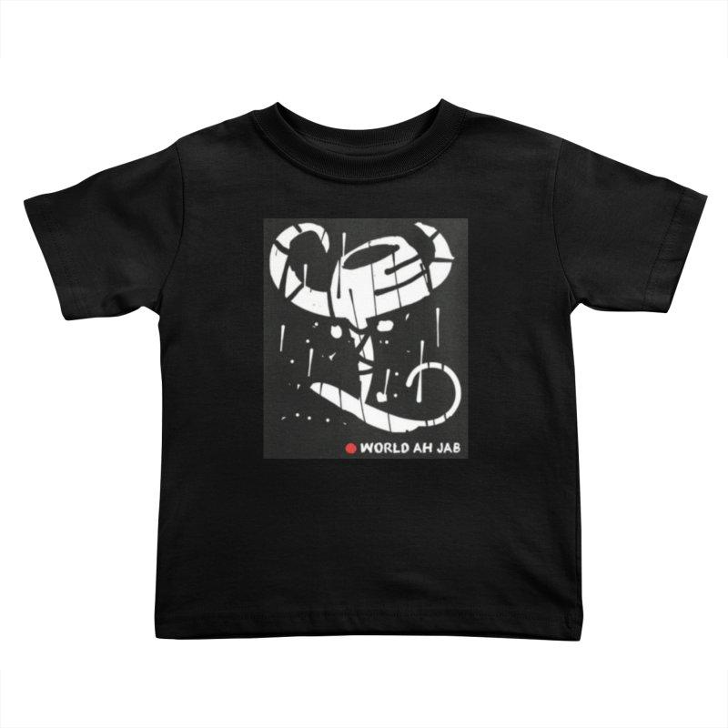 'WORLD AH JAB' Kids Toddler T-Shirt by Mozayic's Artist Shop