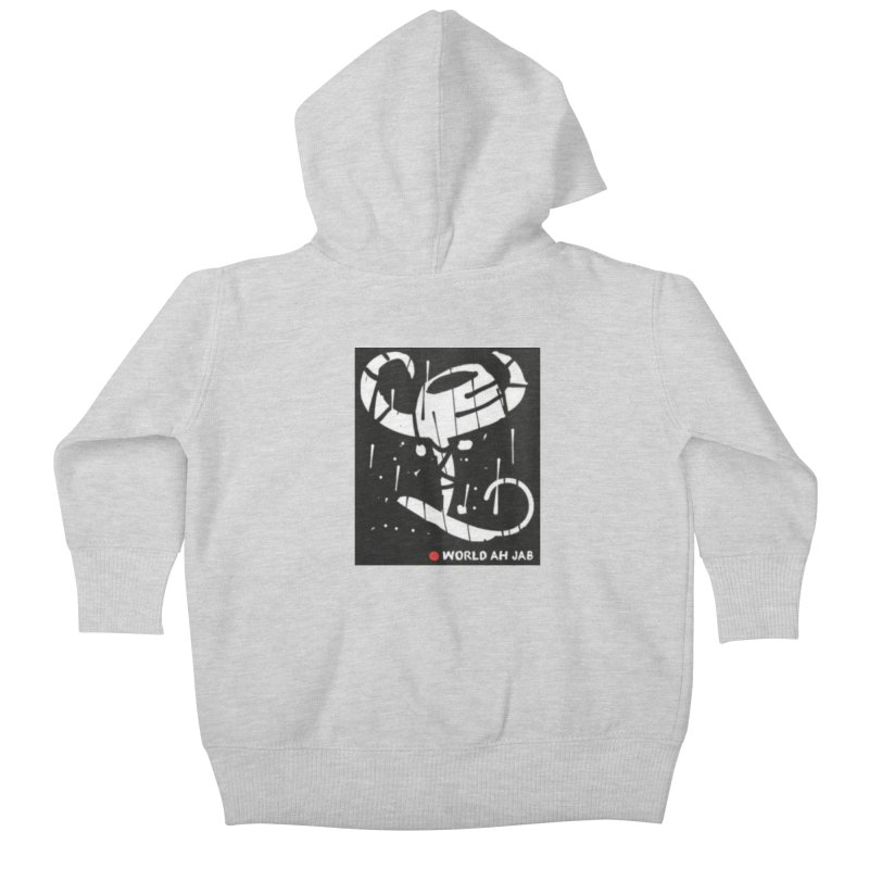 'WORLD AH JAB' Kids Baby Zip-Up Hoody by Mozayic's Artist Shop