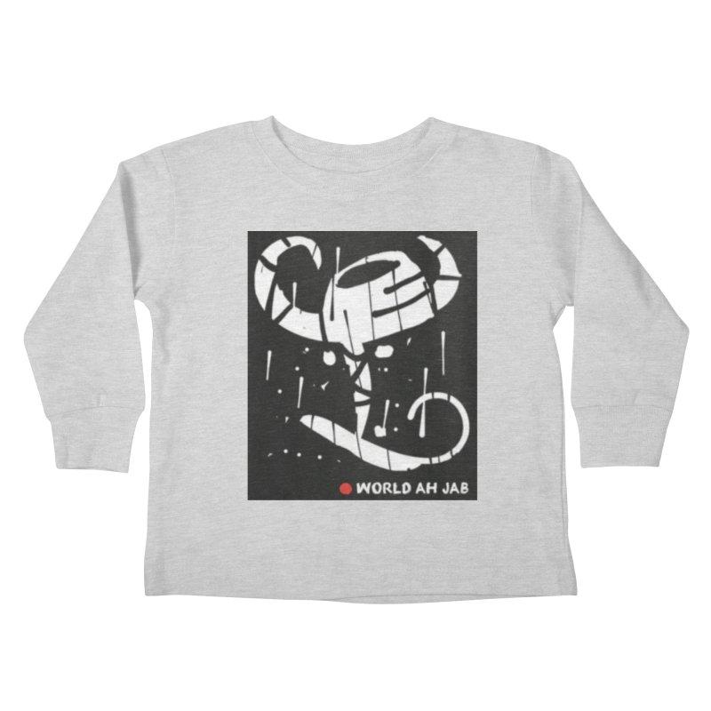 'WORLD AH JAB' Kids Toddler Longsleeve T-Shirt by Mozayic's Artist Shop
