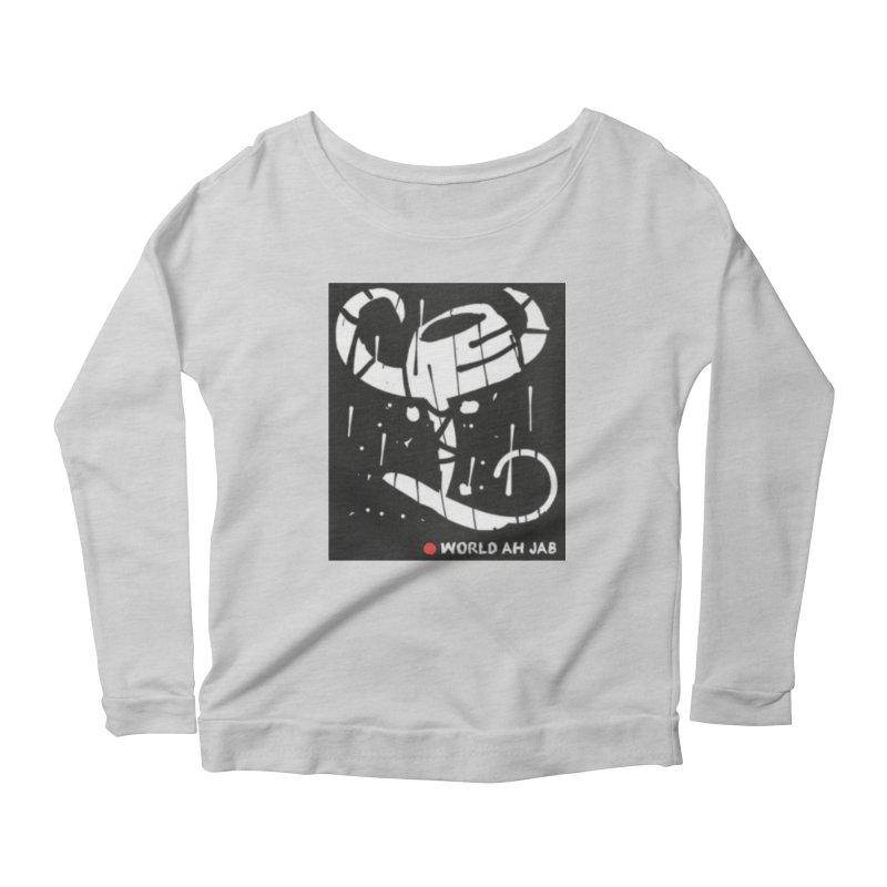 'WORLD AH JAB' Women's Scoop Neck Longsleeve T-Shirt by Mozayic's Artist Shop