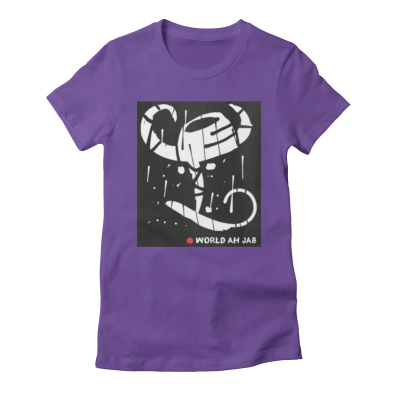'WORLD AH JAB' Women's Fitted T-Shirt by Mozayic's Artist Shop