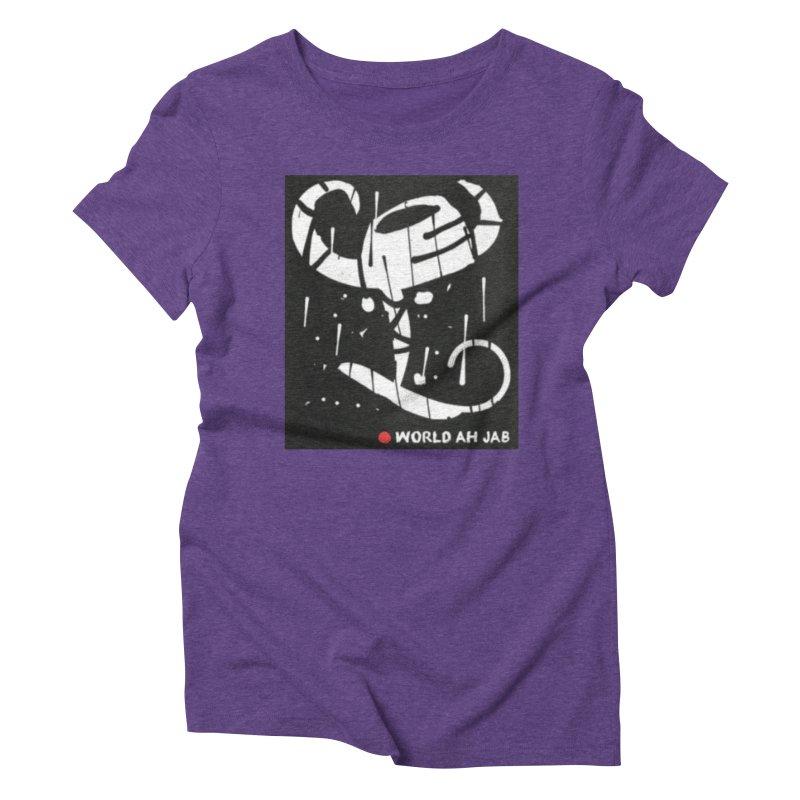'WORLD AH JAB' Women's Triblend T-Shirt by Mozayic's Artist Shop