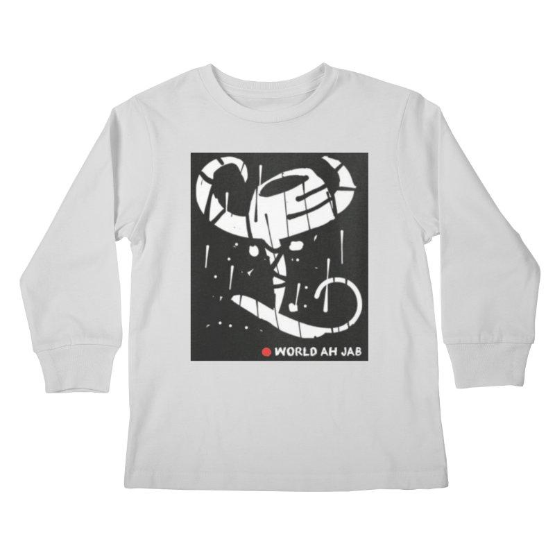 'WORLD AH JAB' Kids Longsleeve T-Shirt by Mozayic's Artist Shop