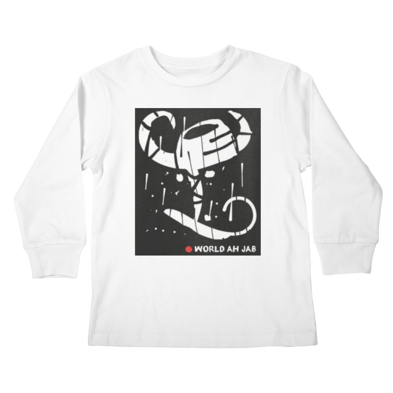 'WORLD AH JAB' Kids Longsleeve T-Shirt by Mozayic's Artist Shop