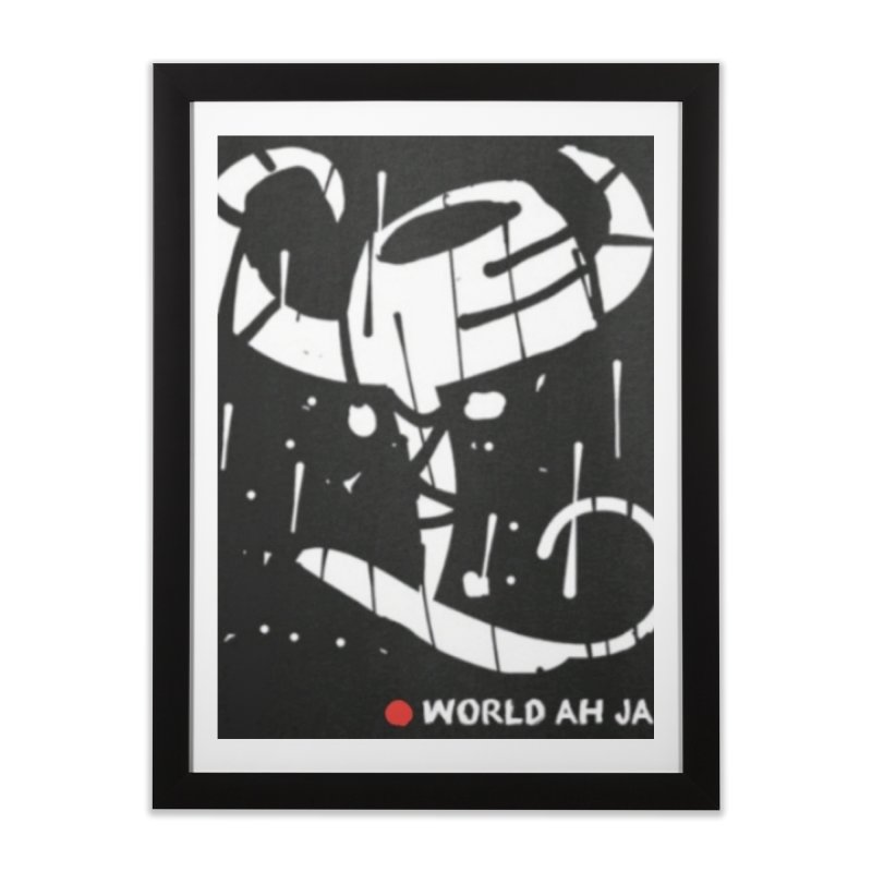 'WORLD AH JAB' Home Framed Fine Art Print by Mozayic's Artist Shop