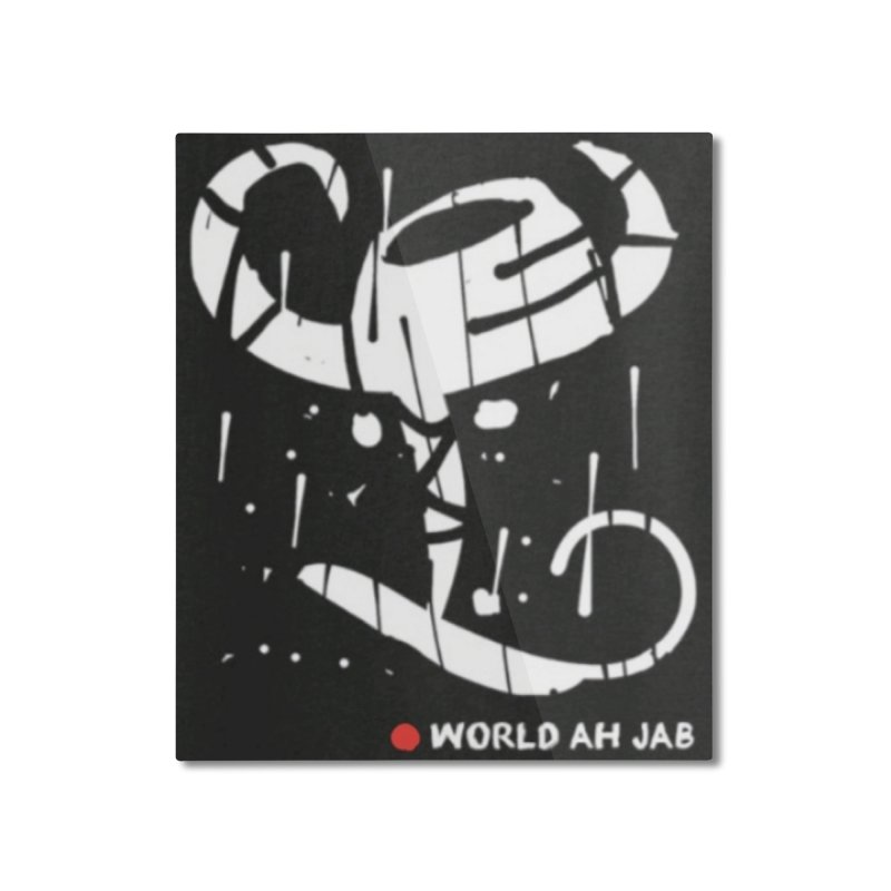 'WORLD AH JAB' Home Mounted Aluminum Print by Mozayic's Artist Shop