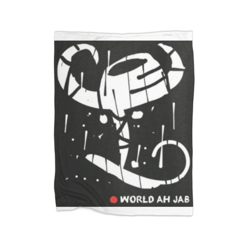 'WORLD AH JAB' Home Fleece Blanket Blanket by Mozayic's Artist Shop