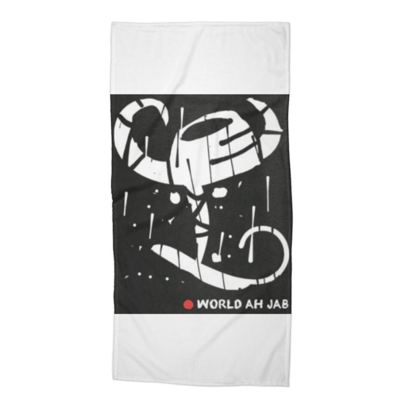'WORLD AH JAB' Accessories Beach Towel by Mozayic's Artist Shop