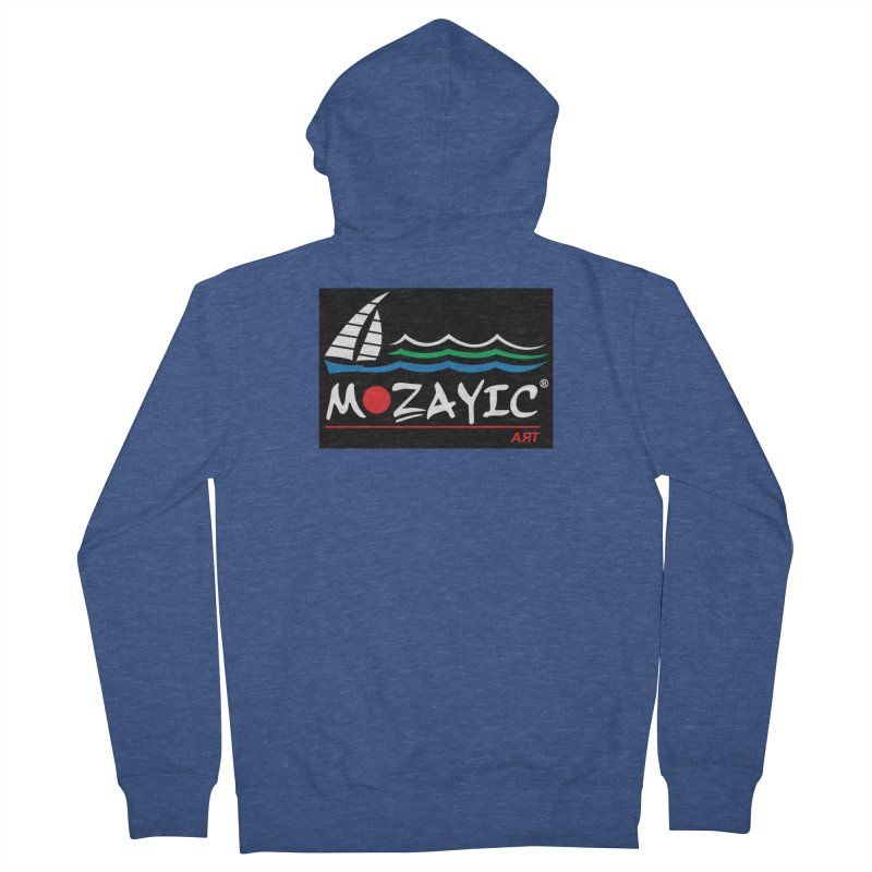 Mozayic sport Men's French Terry Zip-Up Hoody by Mozayic's Artist Shop