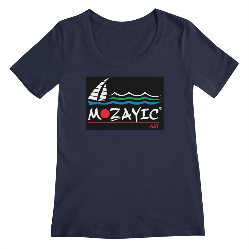 Mozayic sport Women's Regular Scoop Neck by Mozayic's Artist Shop