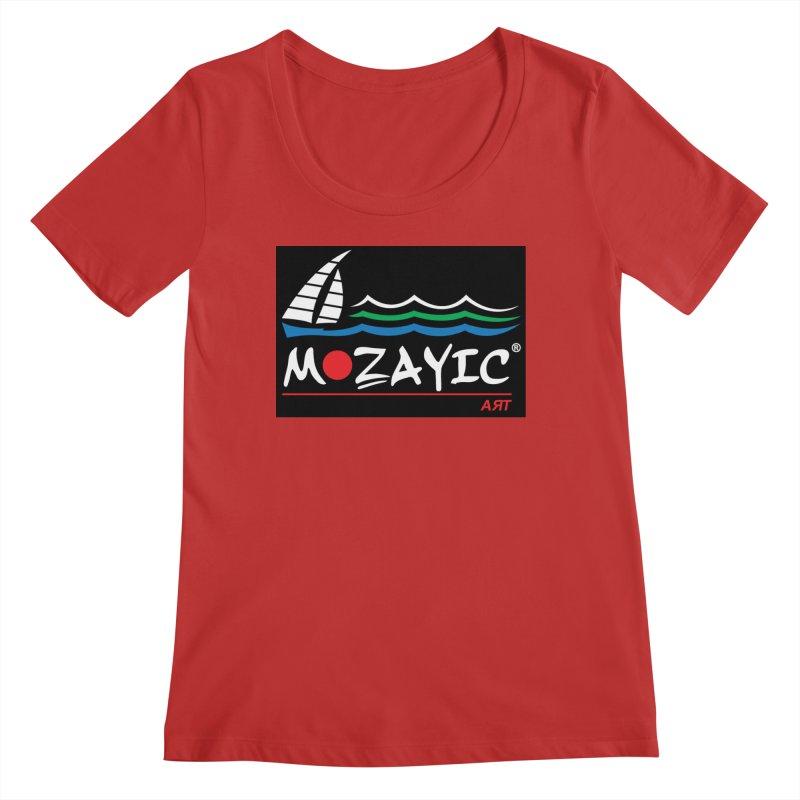 Mozayic sport Women's Regular Scoop Neck by Mozayic's Artist Shop