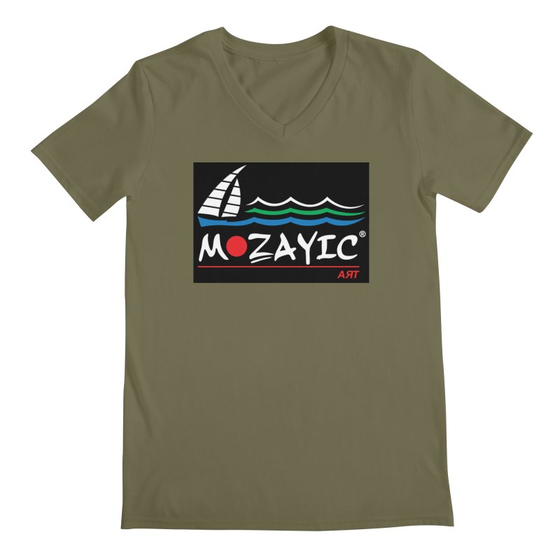 Mozayic sport Men's V-Neck by Mozayic's Artist Shop