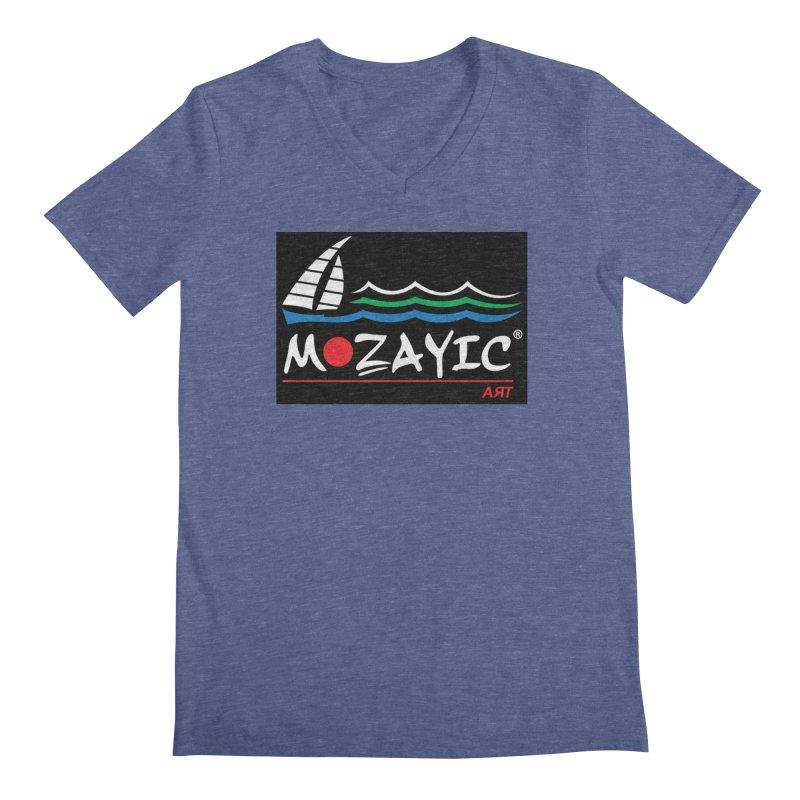 Mozayic sport Men's Regular V-Neck by Mozayic's Artist Shop