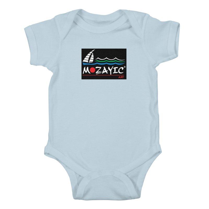 Mozayic sport Kids Baby Bodysuit by Mozayic's Artist Shop