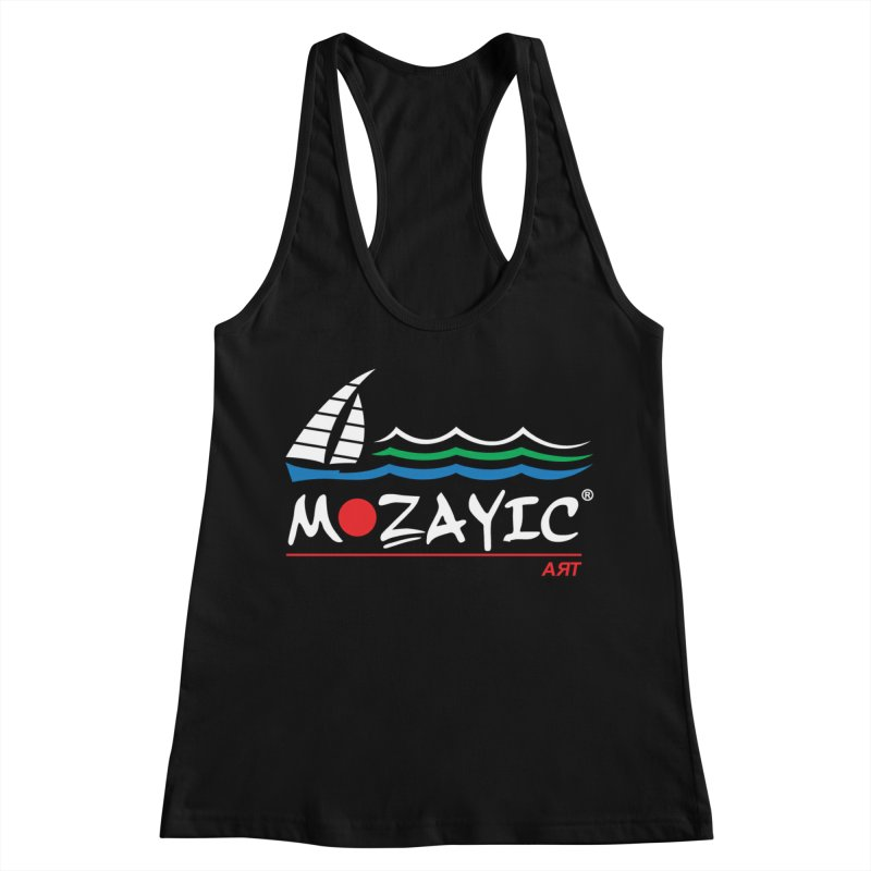 Mozayic sport Women's Racerback Tank by Mozayic's Artist Shop
