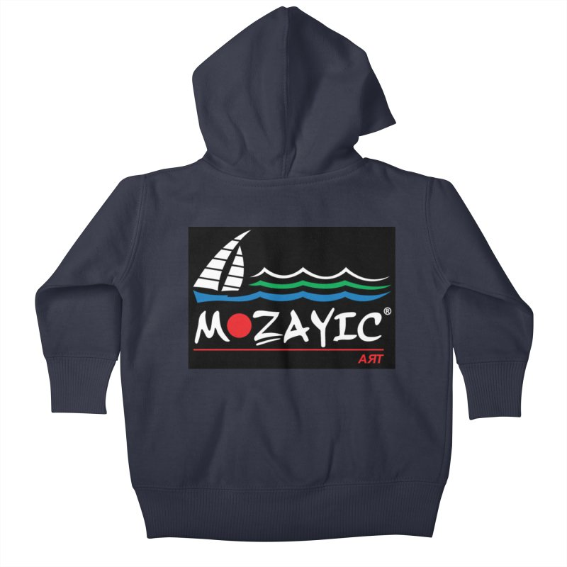 Mozayic sport Kids Baby Zip-Up Hoody by Mozayic's Artist Shop