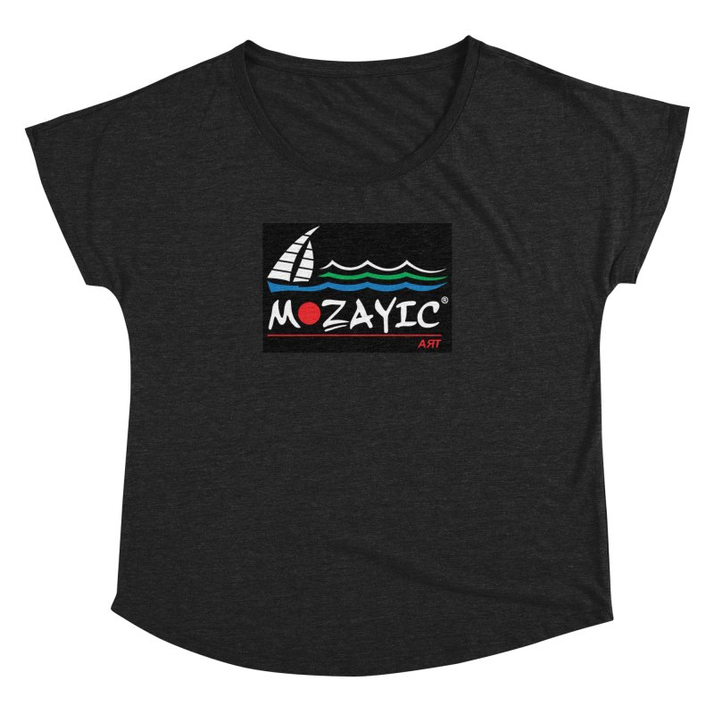Mozayic sport Women's Dolman Scoop Neck by Mozayic's Artist Shop