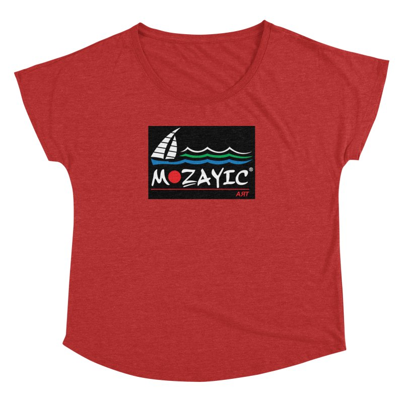 Mozayic sport Women's Dolman Scoop Neck by Mozayic's Artist Shop