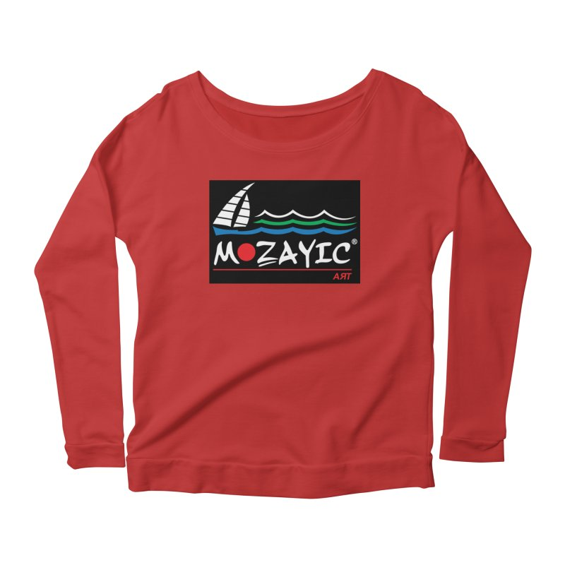 Mozayic sport Women's Scoop Neck Longsleeve T-Shirt by Mozayic's Artist Shop