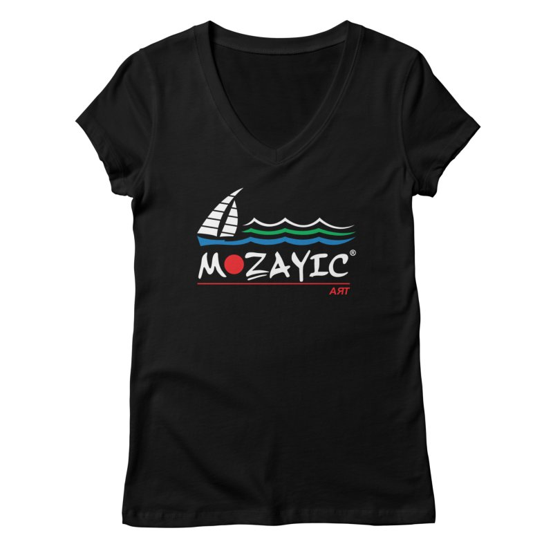Mozayic sport Women's V-Neck by Mozayic's Artist Shop