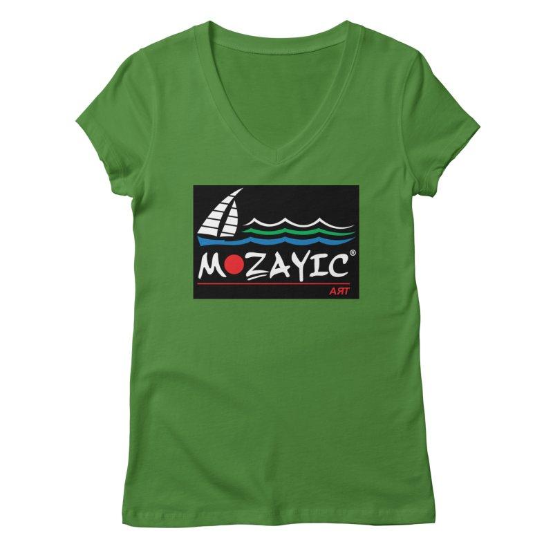Mozayic sport Women's Regular V-Neck by Mozayic's Artist Shop