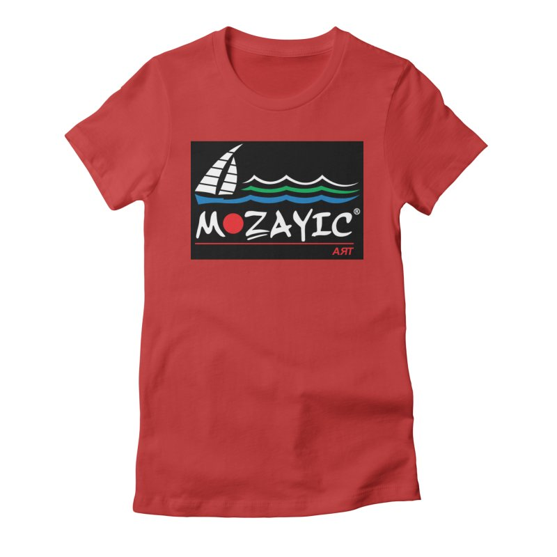 Mozayic sport Women's Fitted T-Shirt by Mozayic's Artist Shop
