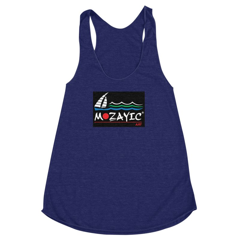 Mozayic sport Women's Racerback Triblend Tank by Mozayic's Artist Shop