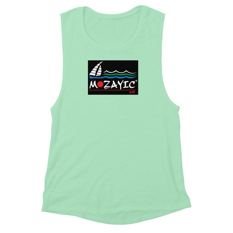 Mozayic sport Women's Muscle Tank by Mozayic's Artist Shop