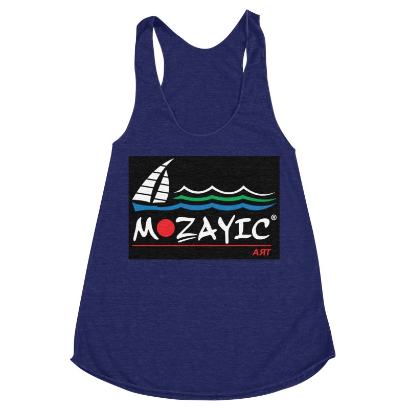 Mozayic sport Women's Racerback Triblend Tank by Mozayic's Artist Shop