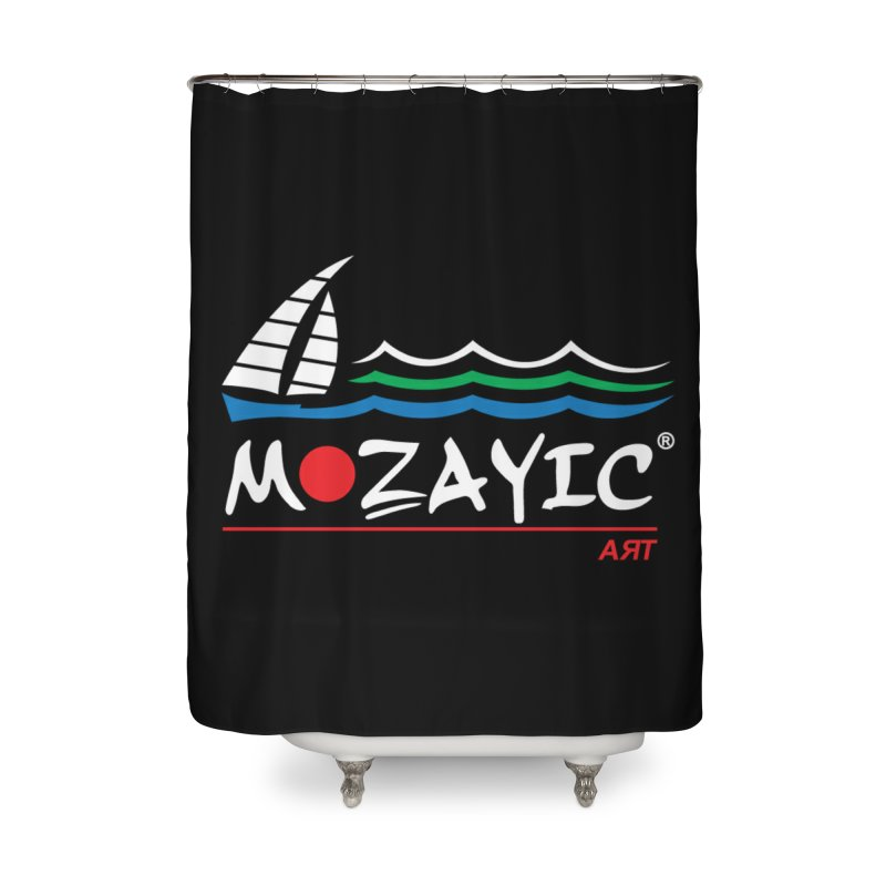 Mozayic sport Home Shower Curtain by Mozayic's Artist Shop
