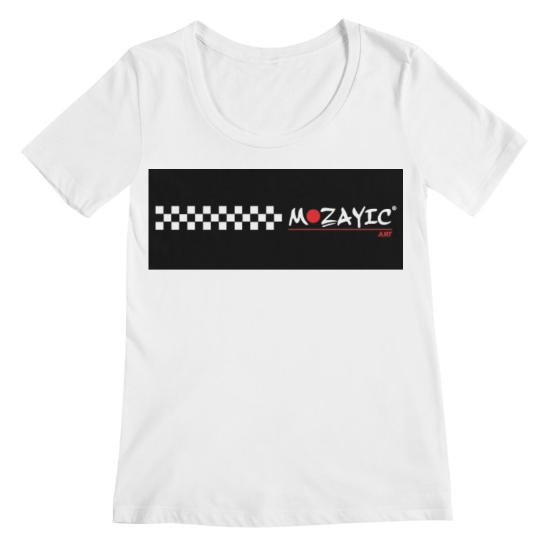Racing Women's Regular Scoop Neck by Mozayic's Artist Shop