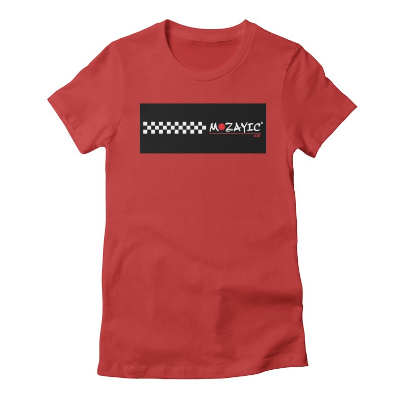 Racing Women's Fitted T-Shirt by Mozayic's Artist Shop