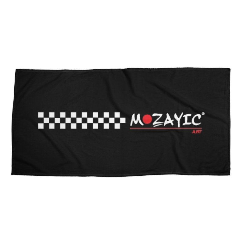 Racing Accessories Beach Towel by Mozayic's Artist Shop