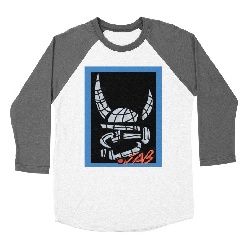 Jab Planet Men's Baseball Triblend Longsleeve T-Shirt by Mozayic's Artist Shop